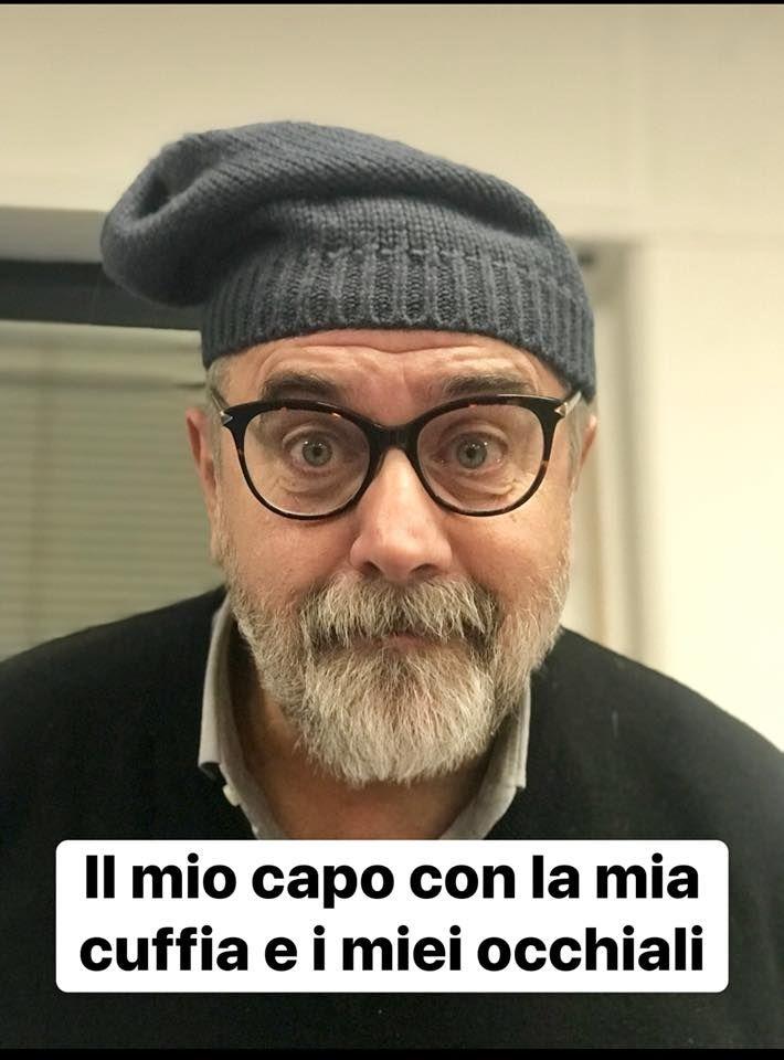 Giorgio A Lambri, la sua Cuffia e i Suoi Occhiali