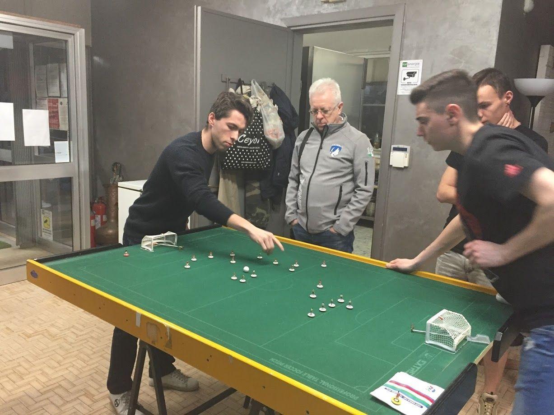 un momento della partita tra Federico Vermi e Matteo Brillantino