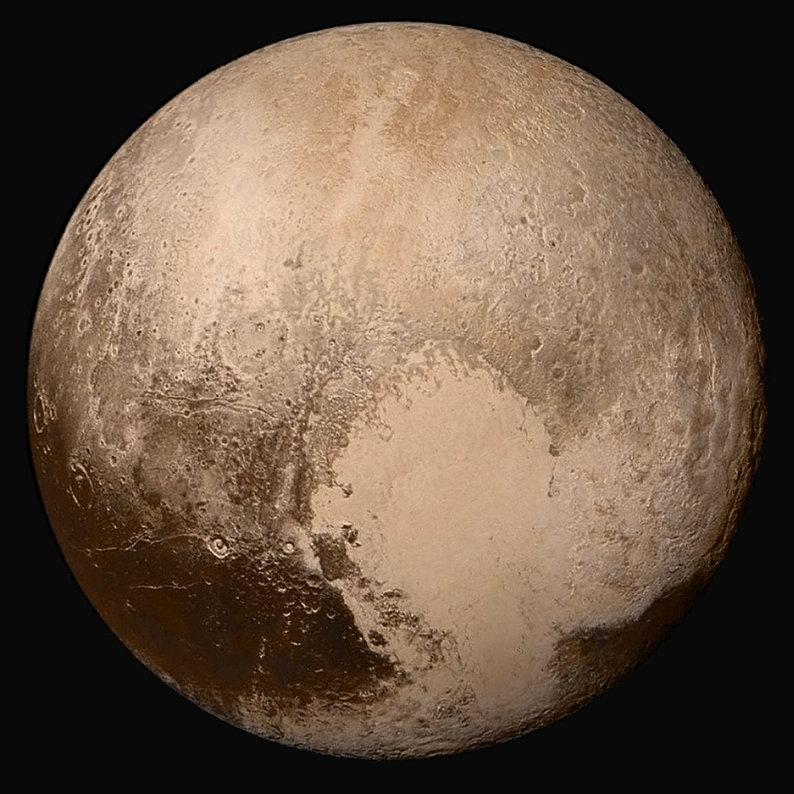 Foto a colori del Pianeta Plutone