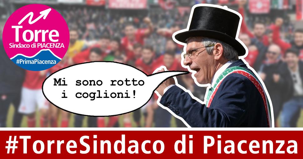 #torresindaco annuncia la sua intenzione di candidarsi anche a Piacenza!